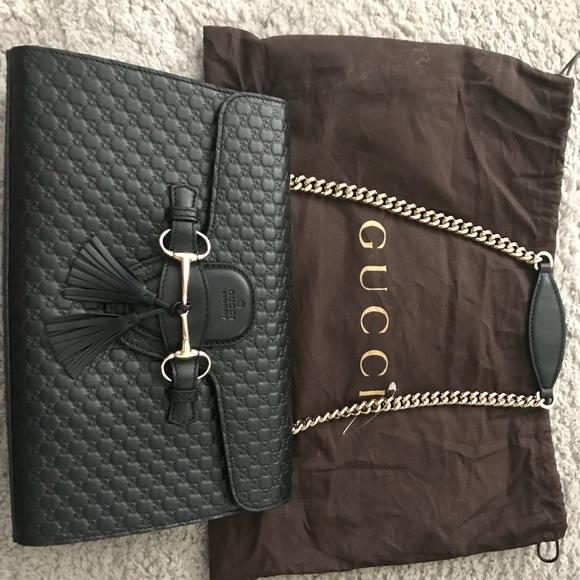 f08d9716cde7ce Gucci Bags | New Authentic Emily Micro Gg Ssima Blk | Poshmark